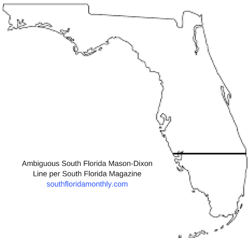 ambiguous map of South Florida by South Florida Monthly Magazine