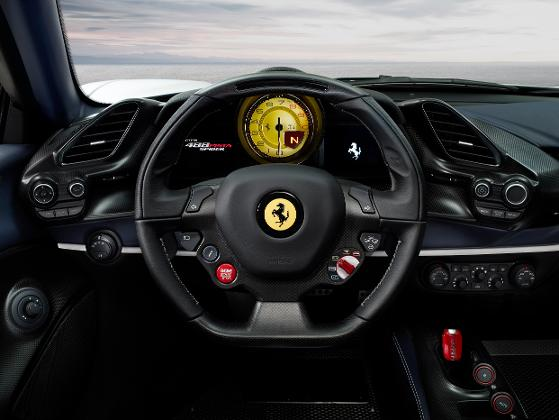 driver cockpit of the new 488 Pista by Ferrari Marque