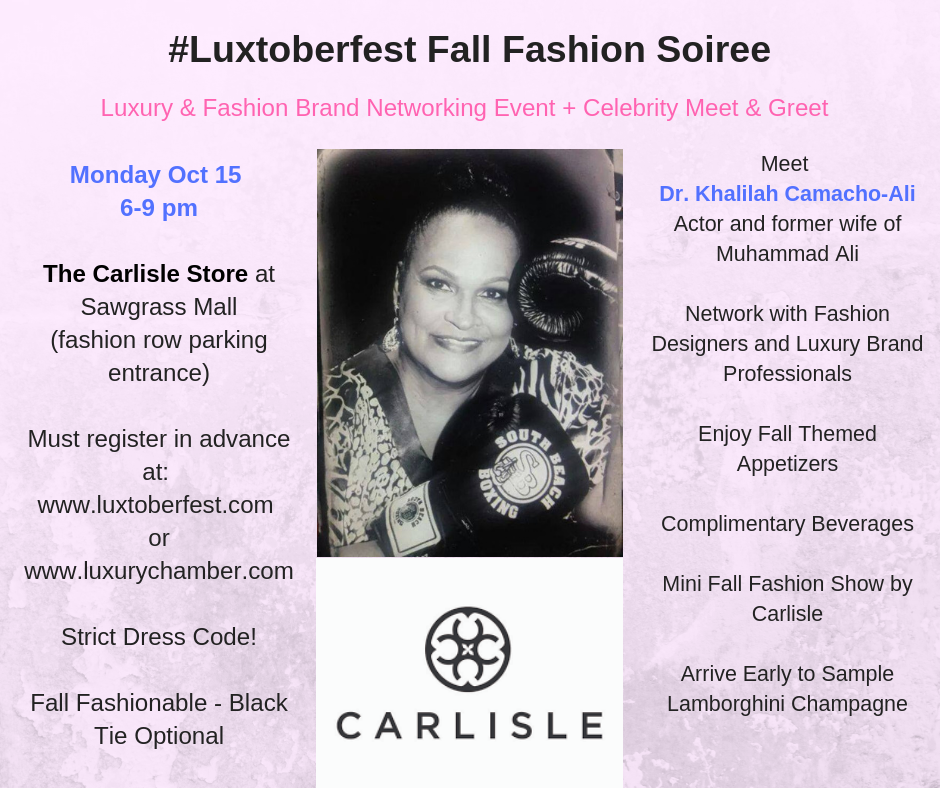 South Florida #luxtoberfest with Dr. Khalilah Camacho-Ali