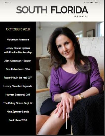 Lana Bernstein on the cover of South Florida Magazine