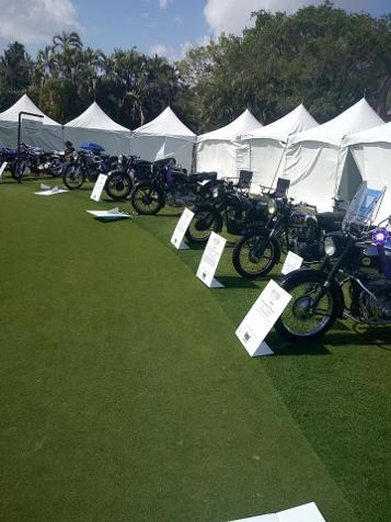 Classic Motorcycle Row at at 2019 Boca Raton Concours d'Elegance