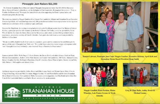 South Florida Pinneaple Jam raises funds for Stranahan House May 2018 - $31,000 event photos in south florida monthly
